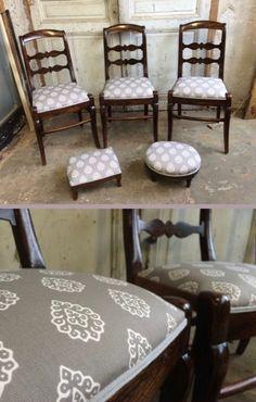 Chaises et repose-pieds