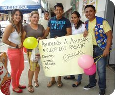 Leo Club Pasaje held a food drive to help others during Christmas