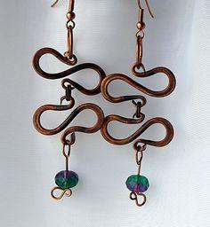 Hand Forged Celtic Copper Earrings    http://www.etsy.com/listing/75113435/handmade-kinetic-copper-earrings-celtic