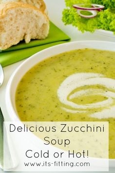 Zucchini Soup - Hot or cold, this recipe is an amazing and nutritious way to use up those zucchinis!! You can even make it in the slow cooker