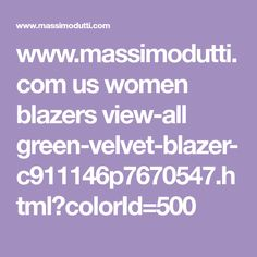 www.massimodutti.com us women blazers view-all green-velvet-blazer-c911146p7670547.html?colorId=500
