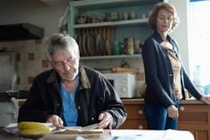 45 YEARS,  starring Charlotte Rampling and Tom Courtenay. A husband receives a letter on his 45th wedding anniversary telling that the body of his first love has been discovered in the glaciers of the Swiss Alps . The news threatens the celebrations, particularly as the husband never told his wife about his first love..