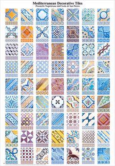 The mediterranean decorative tiles poster. $10.
