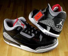 6c9d4603b282d4 Air Jordan III - Black Cement. The only Jordans I care for. Black Cement