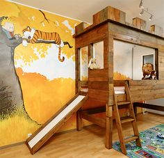 A Charming Bedroom Inspired By 'Calvin & Hobbes' For A Lucky Kid