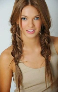 Hair Tips for Cute Braided Hairstyles with Video Tutorials ~ Natural Hair Styles.i really like fishtails instead of braids Hair color! Unique Braided Hairstyles, Pretty Hairstyles, Easy Hairstyles, Girl Hairstyles, Unique Braids, School Hairstyles, Summer Hairstyles, Latest Hairstyles, Black Hairstyles