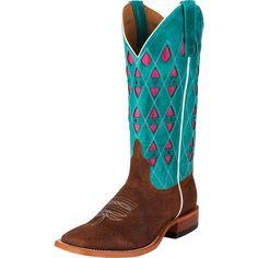 Women's Macie Bean Cognac Caballero Cowboy Boots Item # M9010