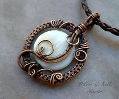 Wire Wrapped jewelry handmade wire wrapped by PillarOfSaltStudio