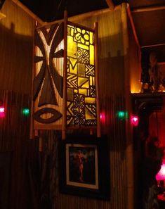 The Lanai - Vancouver WA -- Tiki Central Tiki Art, Tiki Tiki, Tiki Lights, Tiki Bar Decor, Bamboo Light, Tiki Lounge, Globe String Lights, Vintage Tiki, Hawaiian Theme