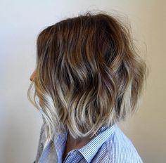 """Fun textured haircut and color!! #nothingbutpixies #ombre #modernsalon #hairdomesa @hair_do_salon #lob"""