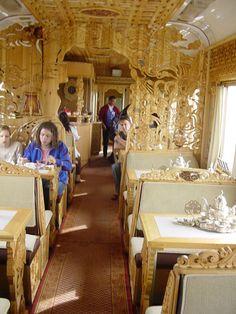 Dining car Trans Siberian Railway day 5