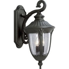 Progress Lighting P5822-31 Cast Aluminum Wall Lantern with Clear Seeded Glass, Textured Black by Progress Lighting. $195.57. Amazon.com                                       Progress Lighting's Meridian collection of outdoor lanterns is ideal for illuminating a home's exterior, entryways and landscape areas. The family includes coordinating wall-mount and post-mount lanterns designed for a variety of outdoor settings in residential environments.   Capture Romance with O...