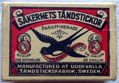 Swedish label #matchbox -To design & order your business' own logo #matches GoTo: GetMatches.com #phillumeny