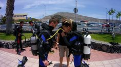 PADI open water diver training in the south of Tenerife.