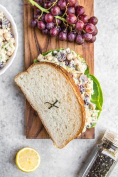 This Chickpea Salad Sandwich is truly the Ultimate! Loaded with chickpeas, crunchy veggies, slivered almonds, & a tangy oil-free mayo, it's a perfect lunch or on-the-go-meal. #vegan #plantbased #chickpeasalad #sandwich #veganchickpeasalad #vegansandwich #glutenfree #oilfree #mealprep #lunch #onthego via frommybowl.com