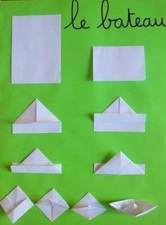 Preschool of Prigonrieux - Origami Origami Simple, Origami Love Heart, Origami Star Box, Origami Stars, Origami Mouse, Origami Fish, Origami Paper, Origami Folding, Paper Folding