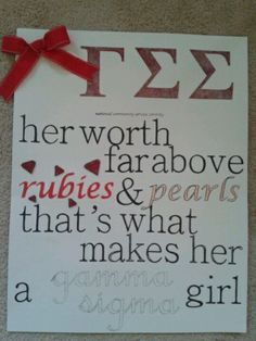 In love with this poster I just made! #gammasig #sorority #poster #quote