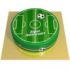 Gâteau Terrain de Football - Ø 20 cm Football Cakes For Boys, Football Themed Cakes, Soccer Birthday Cakes, Soccer Cakes, Liverpool Cake, Gateau Cake, Mubarak Ramadan, Cake Bouquet, Resep Cake