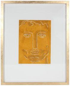 "56351- Rob Delamater, 2014, Monoprint on Paper, 17""x21"" Framed"