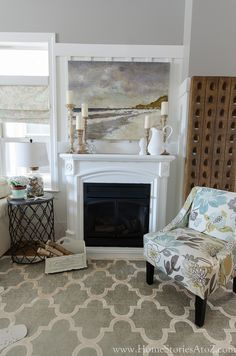 dorian gray family room reveal with gallery wall
