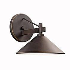 Kichler Lighting 7-3/8-Inch Dark-Sky Compliant Outdoor Wall Light 49059OZ