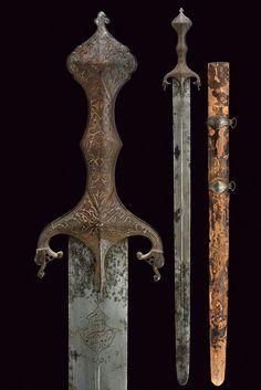 A Qajar sword.  Persia -  19th Century. | CZERNY'S INTERNATIONAL AUCTION HOUSE S.r.l.