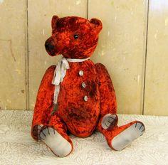 Rudi Krasny Hand made velvet artist bear by Padfieldbears on Etsy https://www.etsy.com/listing/190350750/rudi-krasny-hand-made-velvet-artist-bear