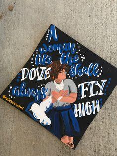 A woman like the dove shall always fly high, zeta phi beta grad cap  Ig: @mickeyyant