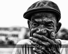 Heavy Heart - Black & White Portrait of a Homeless African American Man - 8x10 photograph via Etsy