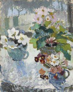 Anne Redpath, First Flowers