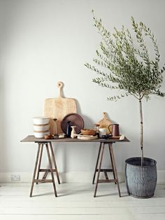 "Laura Fulmine for ""Elle Decoration"" - ahhh olive tree! Interior Styling, Interior Decorating, Interior Design, Elle Decor, Home Fashion, Home And Living, Interior Inspiration, Design Inspiration, Interior And Exterior"