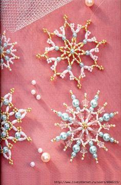 Снежинки из бисера. Обсуждение на LiveInternet - Российский Сервис Онлайн-Дневников