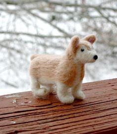 Needle Felted Corgi - Felt Dog - Waldorf Toy Sheepdog - Felted Wool Animal on Etsy, $22.00