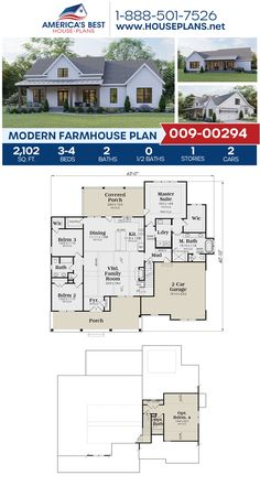 Roof and gable exterior style Barn House Plans, Bedroom House Plans, Country House Plans, New House Plans, Dream House Plans, Small House Plans, Country Homes, Small Farmhouse Plans, Farmhouse Architecture