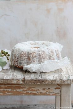 Coconut Blackberry Bundt Cake