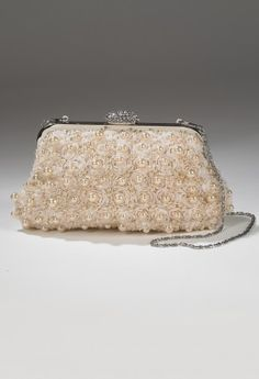 Handbags - Multi Pearl Rhinestone Handbag from Camille La Vie and Group USA