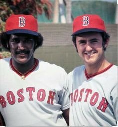 to the Gold Dust Twins (Jim Rice & Fred Lynn) back in Celebrate the team one last night with Fred Lynn Bobblehead Night on at Fenway! Baseball Classic, Red Sox Baseball, Boston Baseball, Boston Sports, Boston Red Sox, Boston Bruins, Dodgers, Famous Baseball Players, Mlb Players
