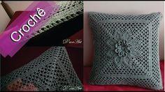 DIY - Crochê - Almofada Com Flor Em Relevo(Passo a Passo)