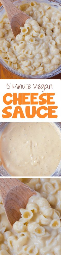 The Ultimate Vegan Cheese Sauce - I have no idea how this works, but it does! Ultra creamy vegan cheese sauce without any soy, nuts, or dairy Vegan Cheese Recipes, Vegan Cheese Sauce, Vegan Sauces, Vegan Foods, Vegan Dishes, Dairy Free Recipes, Vegetarian Recipes, Gluten Free, Vegan Meals