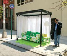 Guerilla marketing: bus stop for the comfortable