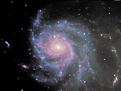 "Messier 101 - Pinwheel Galaxy (LRGB)  Technical card Imaging telescope: Skywatcher Explorer 200p Imaging camera: ATIK Titan mono Mount: HEQ5 Guiding telescope: SkyWatcher 50mm/162mm Finderscope Guiding camera: QHYCCD qhy-5 II Dates: 2015-04-15,  2015-04-19 Frames:  Baader Planetarium Blue: 5x300"" bin 1x1 Baader Planetarium Green: 5x300"" bin 1x1 Baader Planetarium IR Cut: 29x300"" bin 1x1 Baader Planetarium Red: 4x300"" bin 1x1 Pinwheel Galaxy, Pinwheels, Telescope, Astronomy, Fantasy, Explore, Cards, Heaven, Science"