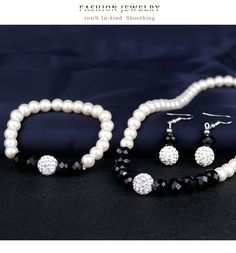 Simple alloy plating Necklace set (CA239-A)NHDR1459 Necklace Set, Plating, Pearl Earrings, Pearls, Simple, Jewelry, Pearl Studs, Jewlery, Jewerly
