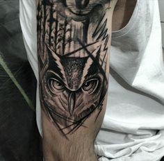 #owltattoo #armtattoo #rick_tattooscp