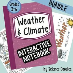 This item is also found in the Earth Science SET of 8 BUNDLES at 30% OFF!This is a great unit all about weather and climate.  This big bundle comes with:Weather and Climate Foldable72 Slide Weather and Climate PowerPointMapping WeatherWeather and Climate Tools FoldableUnderstanding FrontsQuiz about Weather and ClimateVenn Diagram about Weather and Climate32 Task CardsVocabulary SetWriting PromptWeekly WarmupAll KEYS included and foldables fit perfectly in the interactive notebook!