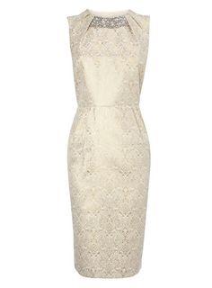 Gold Jacquard Shift Dress Price: £55.00 Colour: gold Item code: 8614056982