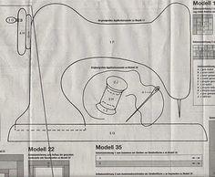 Molde para capa de máquina de costura de e.v.a ou tecido