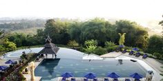 Infinity pool at Anantara Golden Triangle Resort, Thailand