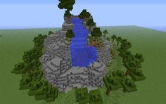 Water Fall, a Minecraft creation. Minecraft Bridges, Minecraft Tips, Minecraft Creations, Cool Minecraft, How To Play Minecraft, Minecraft Crafts, Waterfall Building, Power Rangers Toys
