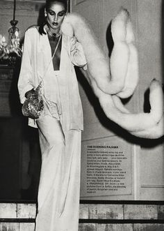 YSL 'Le Smoking'. Jerry Hall