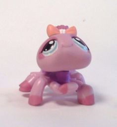 Littlest Pet Shop LPS Hasbro Figure #991 Purple spider with bow